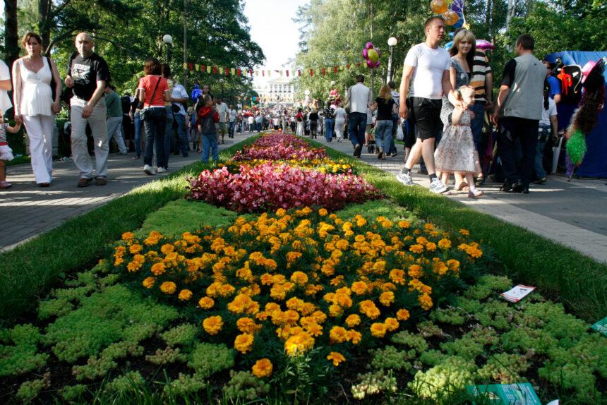 Зеленогорск, парк культуры и отдыха, цветы, клумба, сердце