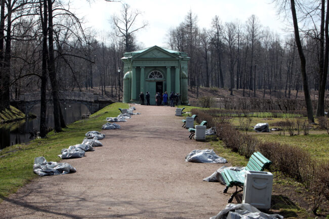 ГМЗ Гатчина, Гатчинский парк, павильон Венеры, садово-парковое хозяйство, весенняя уборка