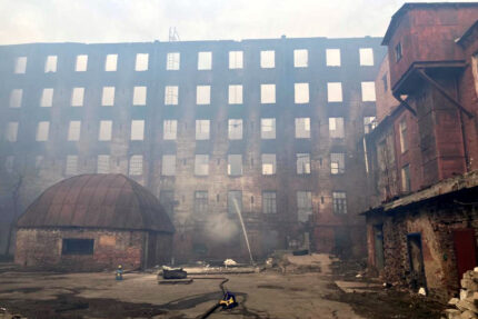 пожар в Невской мануфактуре, сгоревшее здание