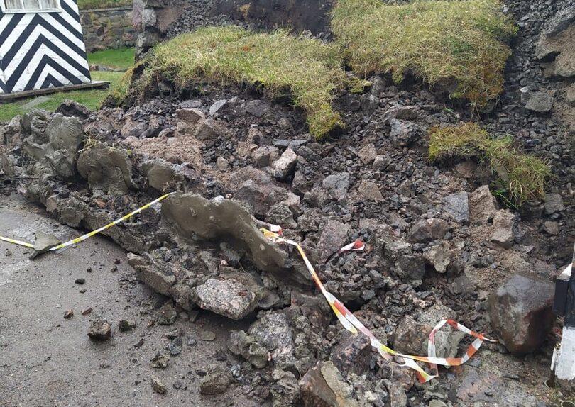 В Ленобласти в старинной крепости Корела обрушилась стена