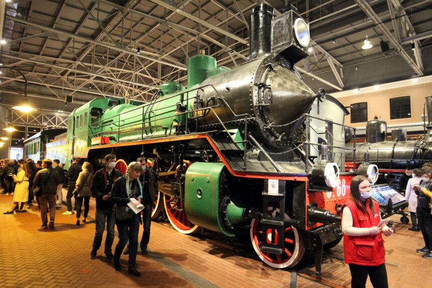 ночь музеев, музей железных дорог России, паровозы, железнодорожный транспорт