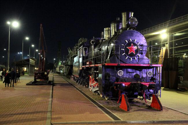 ночь музеев, музей железных дорог России, паровозы, железнодорожный транспорт, железнодорожный ракетный комплекс
