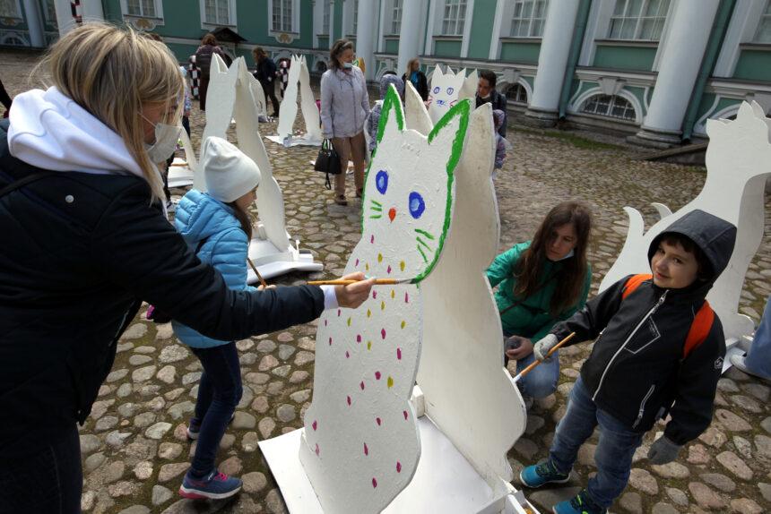 день эрмитажного кота, роспись, рисование