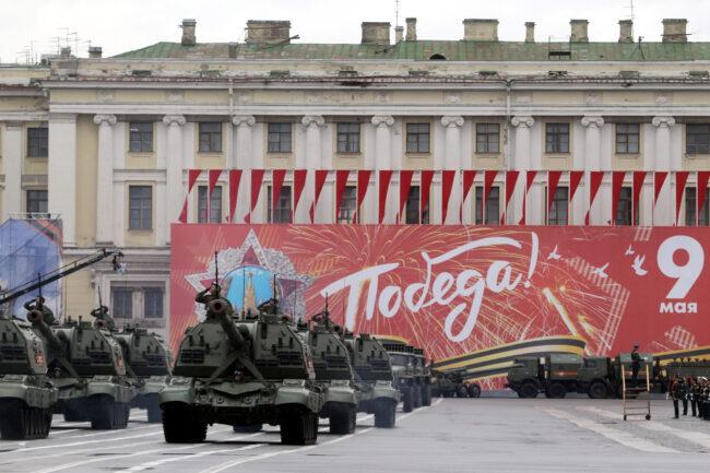 репетиция парада Победы, солдаты, военные, армия, самоходные артиллерийские установки