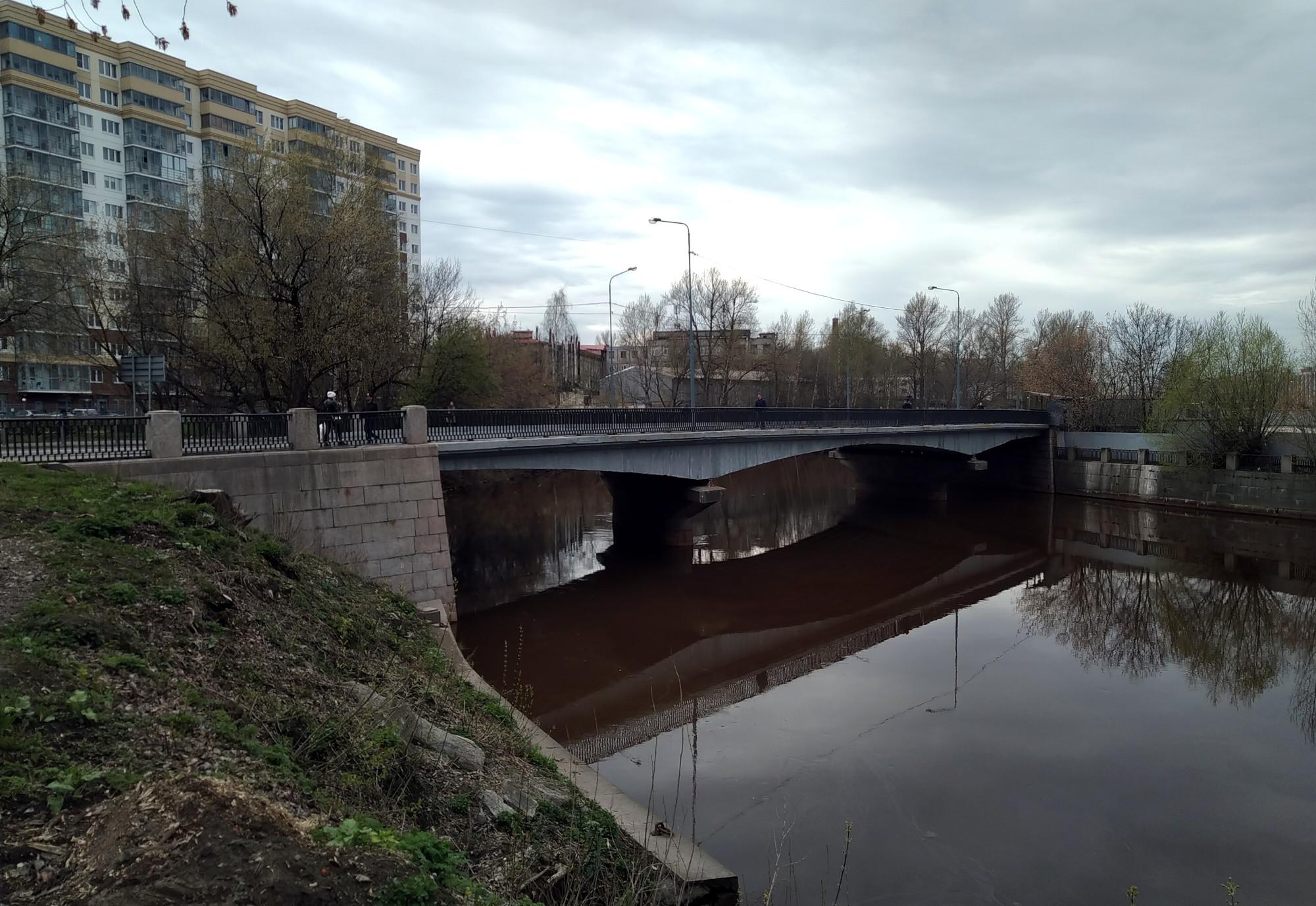 мост Шаумяна, Охта