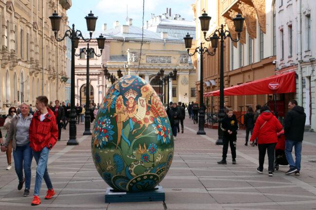Пасхальное яйцо, Малая Садовая улица