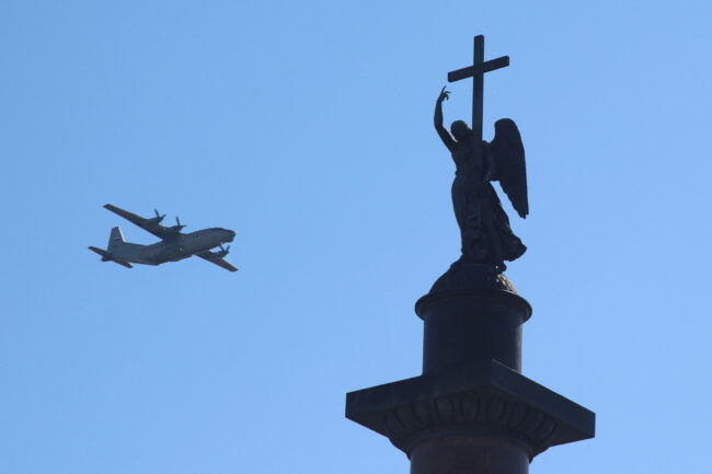 парад победы, день победы, 9 мая, армия, авиация, самолёты, ан-12
