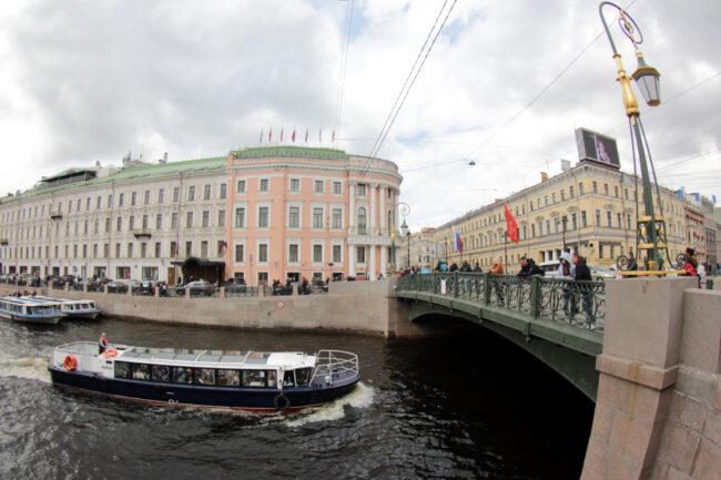 речной парад, прогулочные суда, теплоходы, Мойка, Зелёный мост