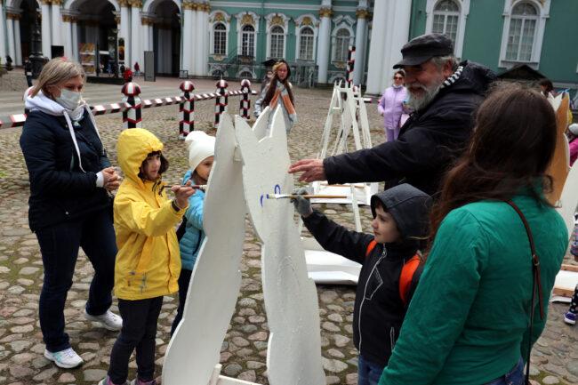 день эрмитажного кота, роспись, рисование, Дмитрий Шагин