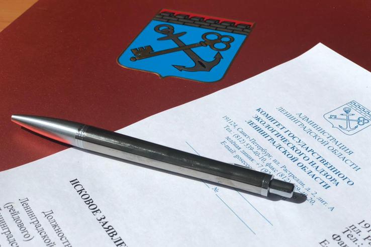 судебный иск, исковое заявление, комитет по экологическому надзору Ленинградской области, документ, ручка
