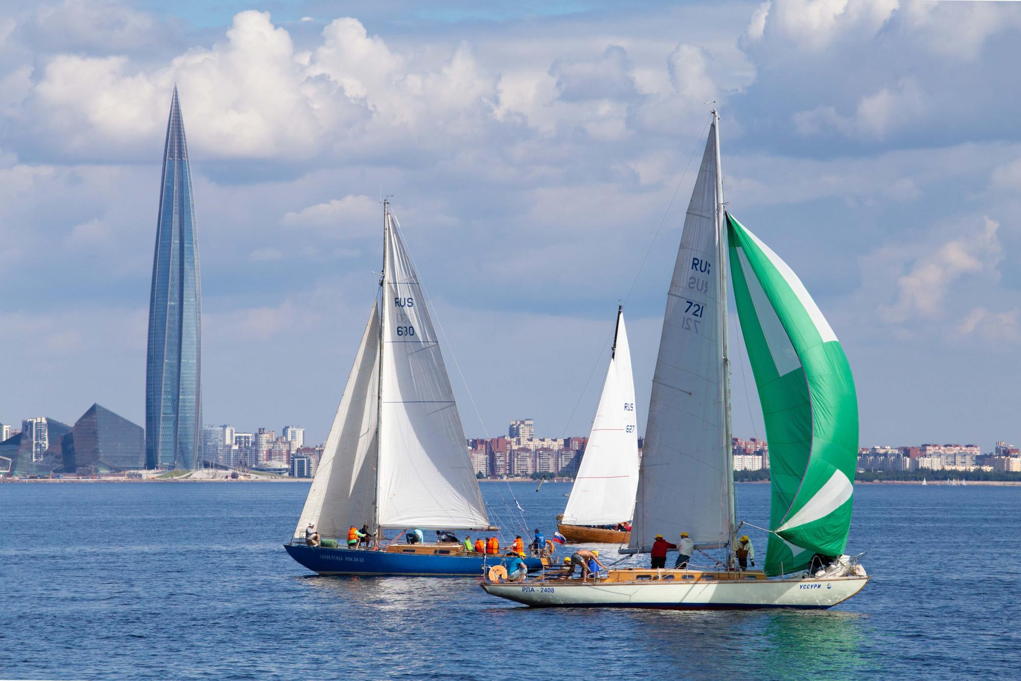 парусная регата, яхты, Лахта-центр