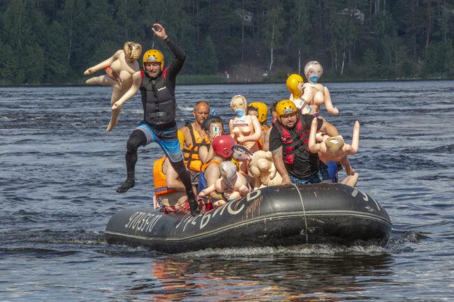 Bubble Baba Challenge, сплав на резиновых женщинах, Лосевские пороги, водные виды спорта