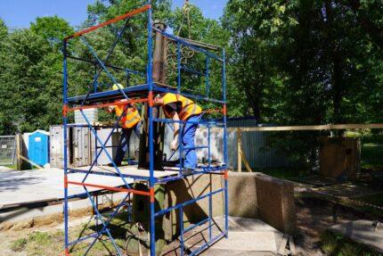 реставрация Готического колодца, Орловский парк Стрельны