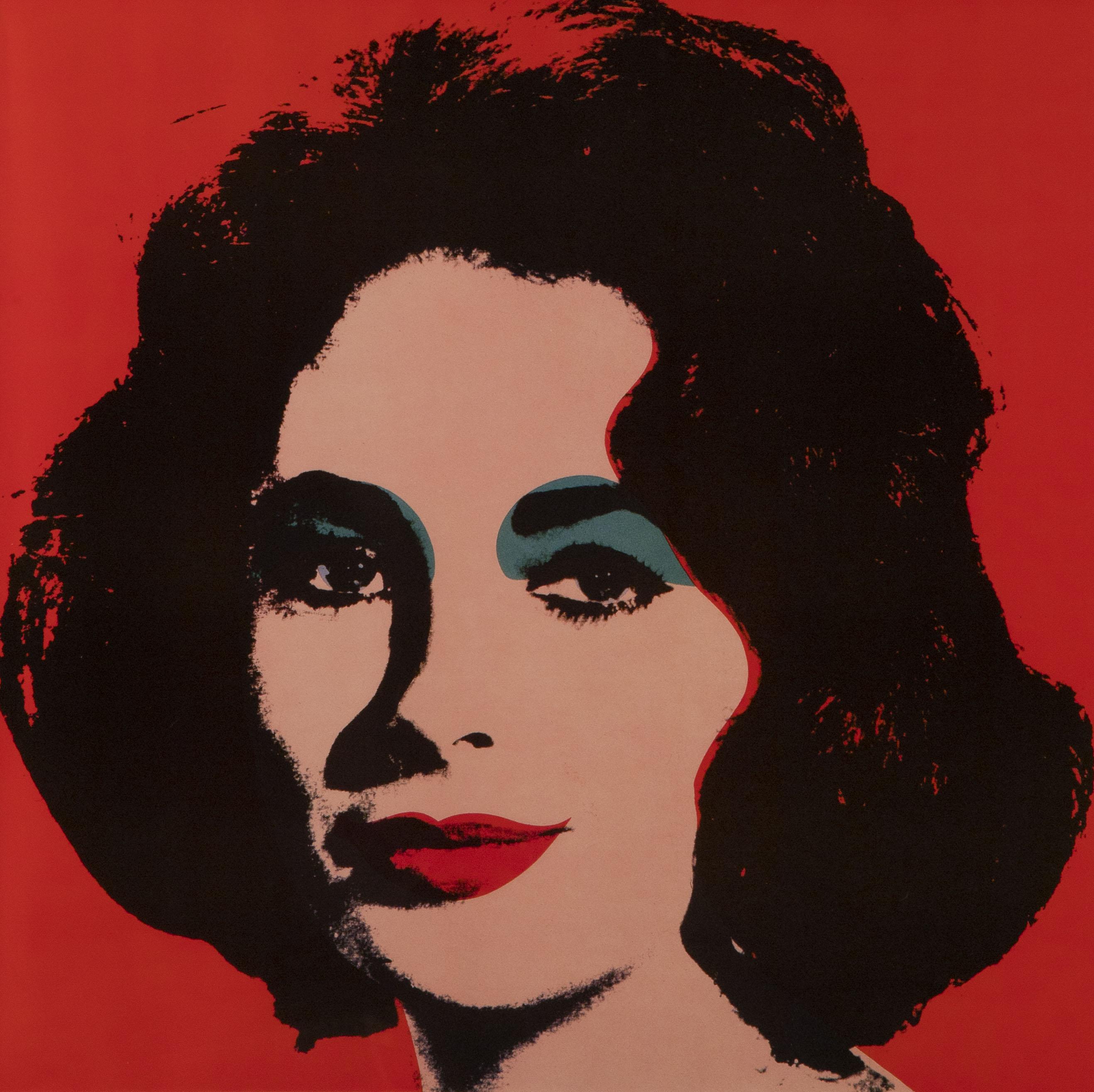 "Энди Уорхол. ""Лиз (Элизабет Тейлор), 1982 Бумага, шелкография. 60 х 60 см"