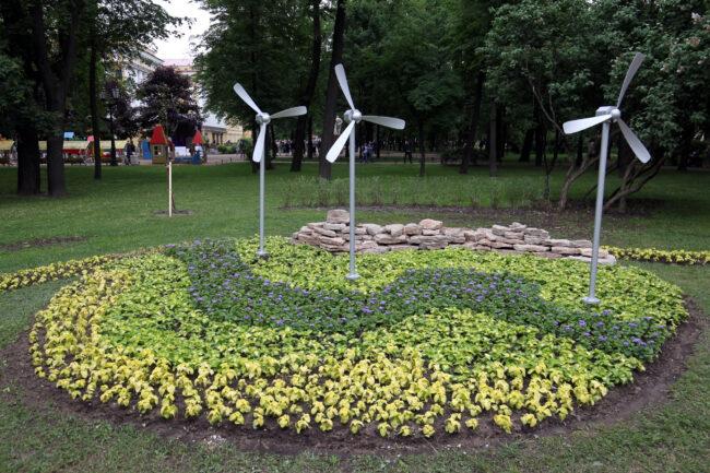 фестиваль цветов, цветник, благоустройство, Александровский сад, ветряки, ветроэнергетика