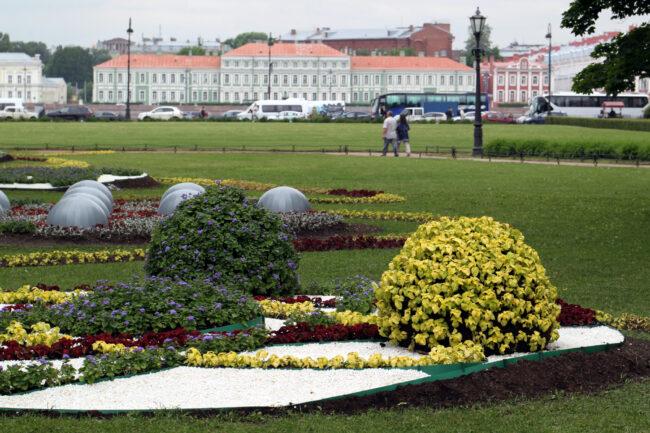 фестиваль цветов, цветник, благоустройство, Александровский сад, Адмиралтейская набережная