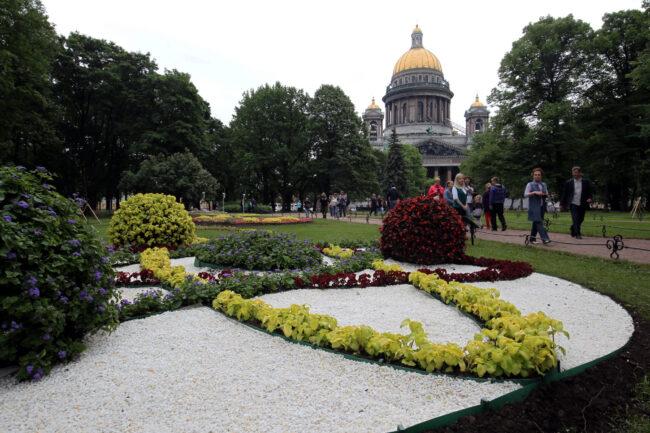 фестиваль цветов, цветник, благоустройство, Александровский сад, Исаакиевский собор