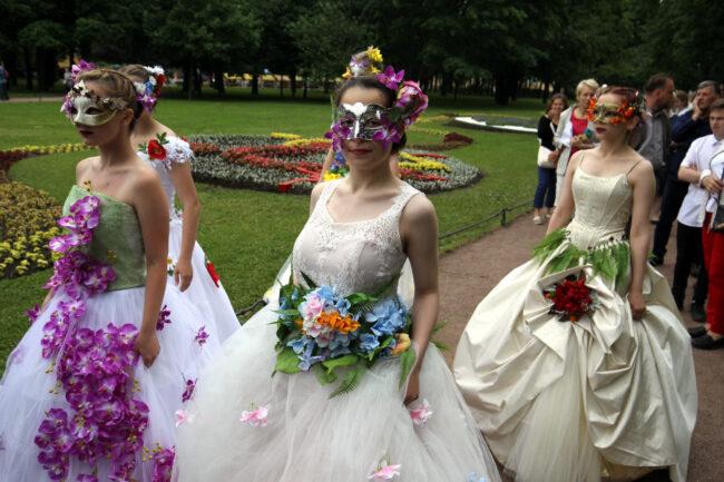 фестиваль цветов, девушки, модели