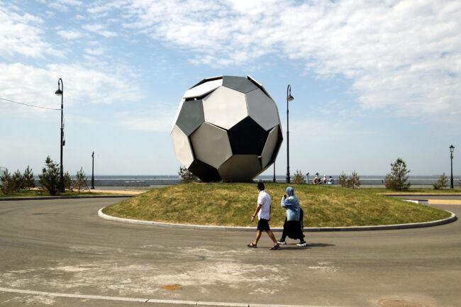 футбольный мяч, украшение, чемпионат по футболу, Крестовский остров