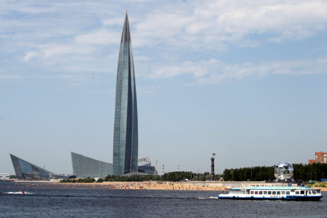 Лахта-центр, пляж, парк 300-летия Петербурга