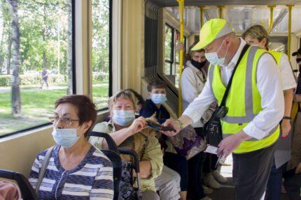 коронавирус масочный режим маски трамвай троллейбус кондуктор