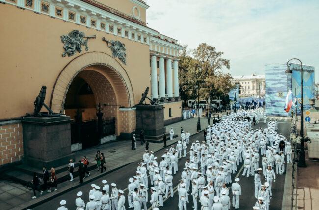 парад, день ВМФ, моряки