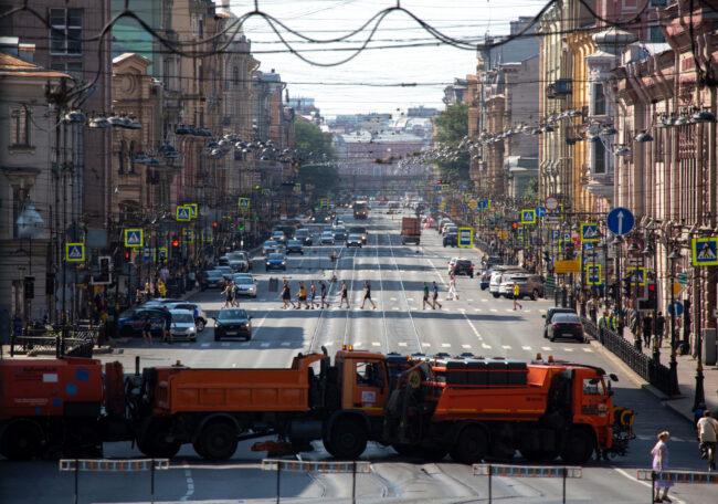 день ВМФ, перекрытие улиц