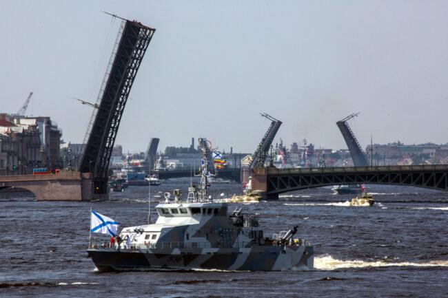 день ВМФ, репетиция парада, главный военно-морской парад, корабли, противодиверсионный катер Юнармеец