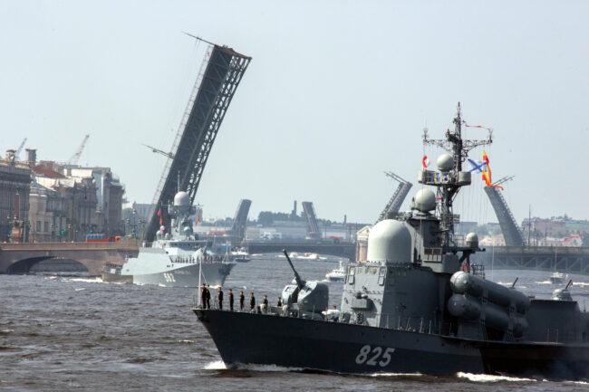 день ВМФ, репетиция парада, главный военно-морской парад, корабли, малый ракетный корабль Димитровград