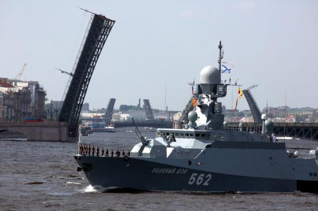 день ВМФ, репетиция парада, главный военно-морской парад, корабли, малый ракетный корабль Зелёный дол