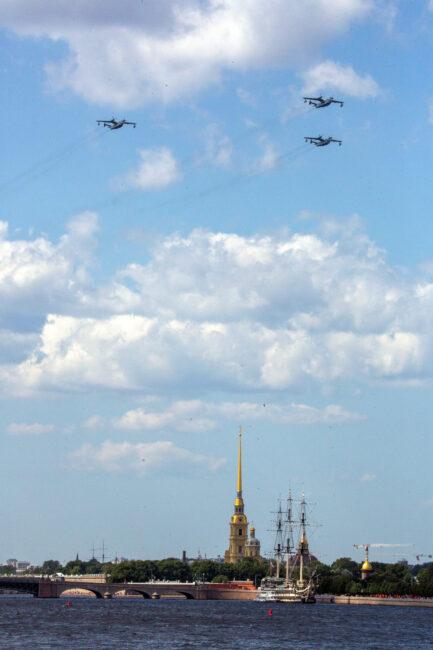 день ВМФ, репетиция главного военно-морского парада, авиация, самолёты