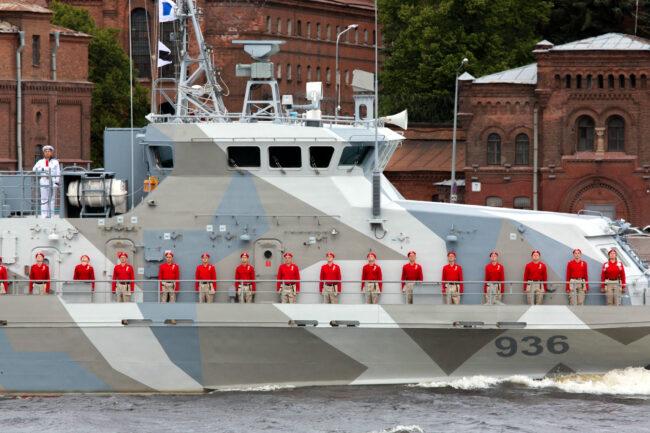 Генеральная репетиция, главный военно-морской парад, день ВМФ, противодиверсионный катер 936, корабли, военные