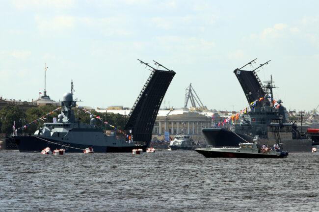 день ВМФ, репетиция парада, главный военно-морской парад, разведённый Дворцовый мост
