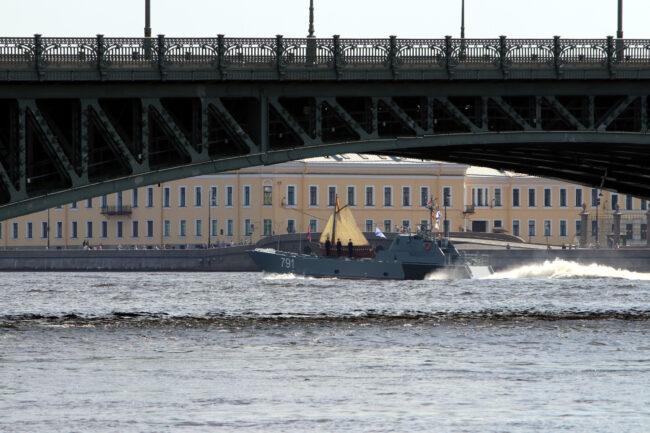 день ВМФ, репетиция парада, главный военно-морской парад, ботик Петра I