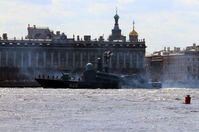 день ВМФ, репетиция парада, главный военно-морской парад, корабли, ракетный корабль Димитровград