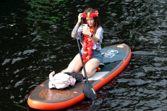 Фонтанка SUP, SUP-серфинг