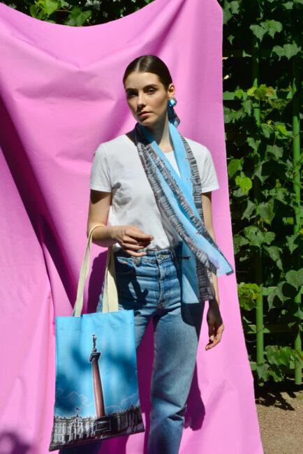 сувенирная продукция, шарф, сумка