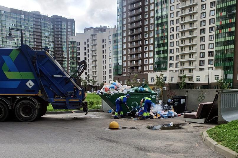 мусор, мурино, отходы, контейнерная площадка