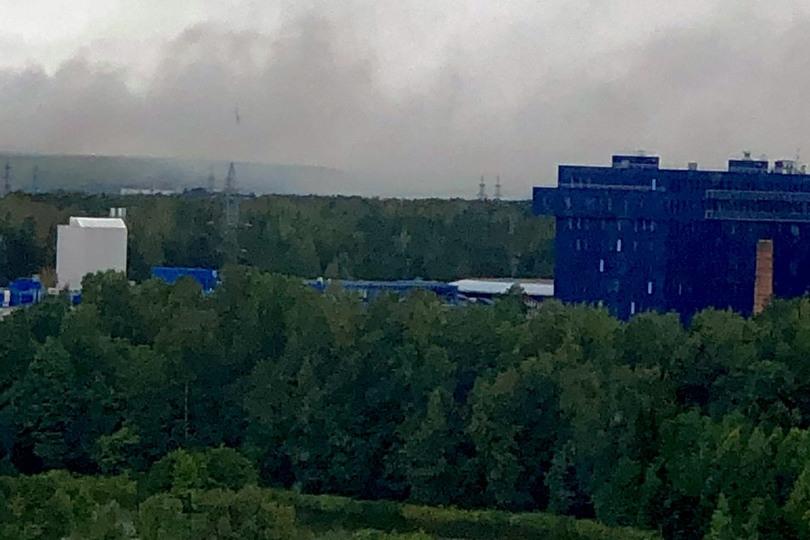 пожар на мусорном полигоне