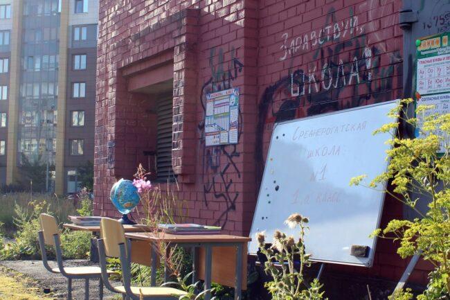 школа на пустыре, Средняя Рогатка, общественный протест