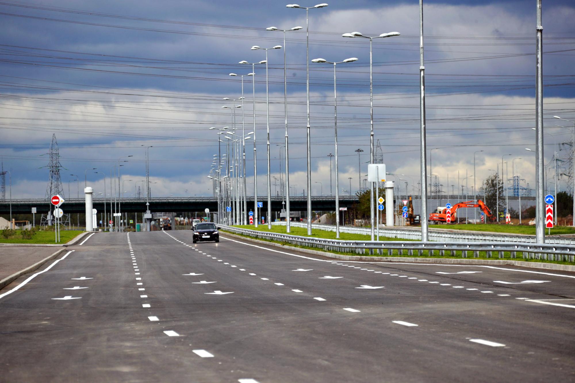 Софийская улица, участок до Колпино, дороги, дорожное строительство
