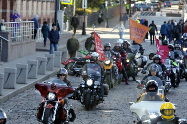 мотофестиваль Baltic Rally, мотоциклисты, байкеры, мотопробег