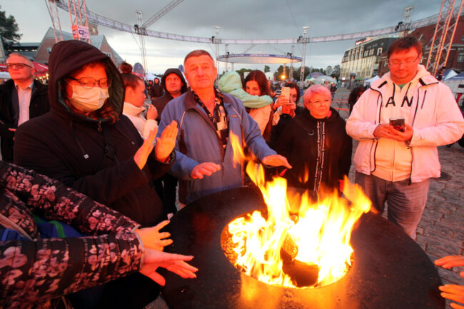 мотофестиваль Baltic Rally, огонь, костёр, байкеры