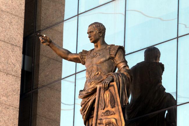 торговый центр Европа, скульптура, Октавиан Август, Путин