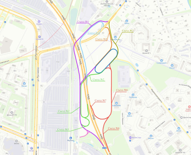схема развязки КАД и дороги на Матоксу, Муринская развязка
