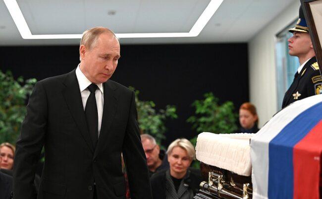 прощание с Евгением Зиничевым, Владимир Путин