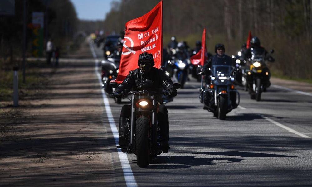 мотопарад, мотоциклисты, мотофестиваль Baltic Rally, байкеры, мотоциклисты