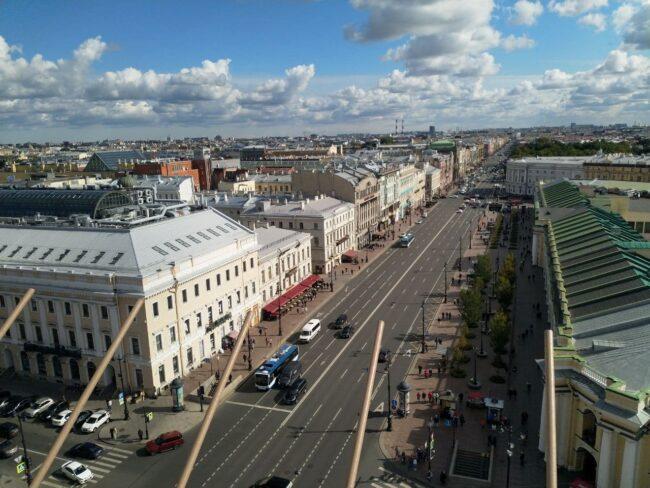 Думская башня, башня городской думы, вид на Невский проспект