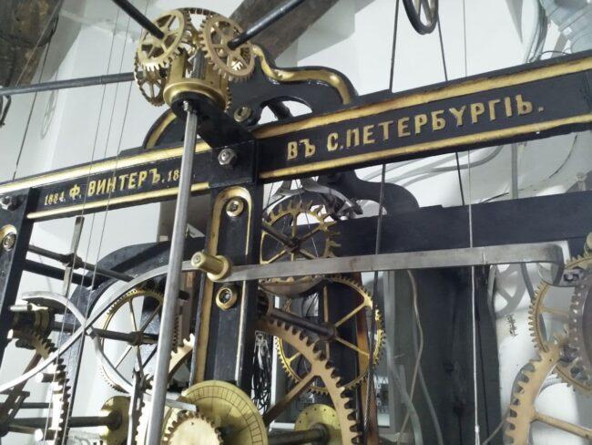 Думская башня, башня городской думы, часы, часовой механизм
