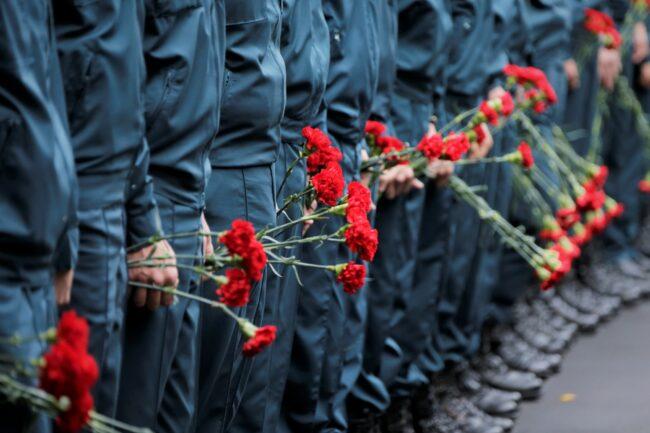 прощание с Евгением Зиничевым, цветы